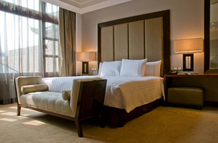 Bedroom of a elegant 5 star luxury hotel - Case Study Image