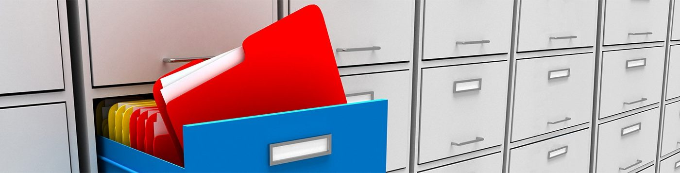 Homepage hero image - 3d illustration of archive with folder